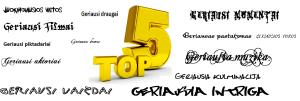 top 10 geriausi