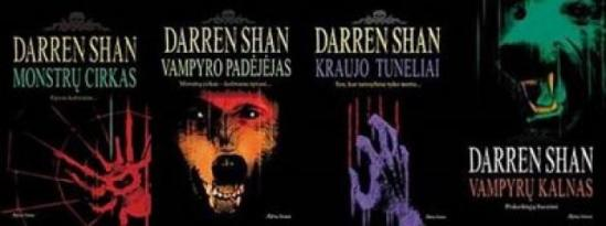 darren shan knygos