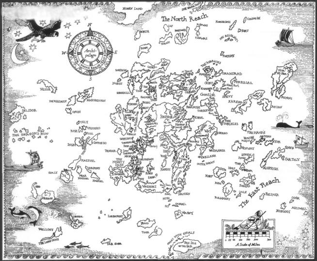 žemjūrės burtininkas žemėlapis